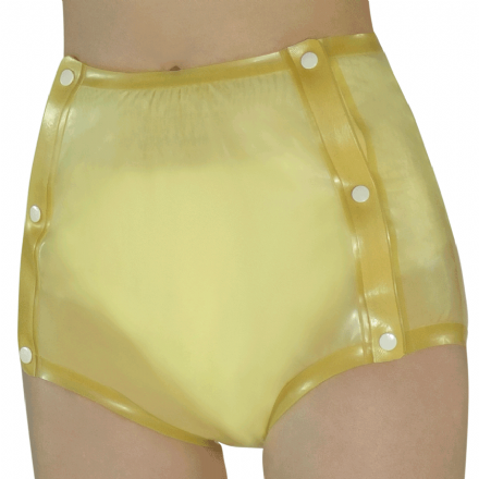 Buttoned Rubber Incontinence Briefs
